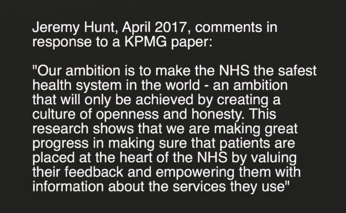 Hunt KPMG comments