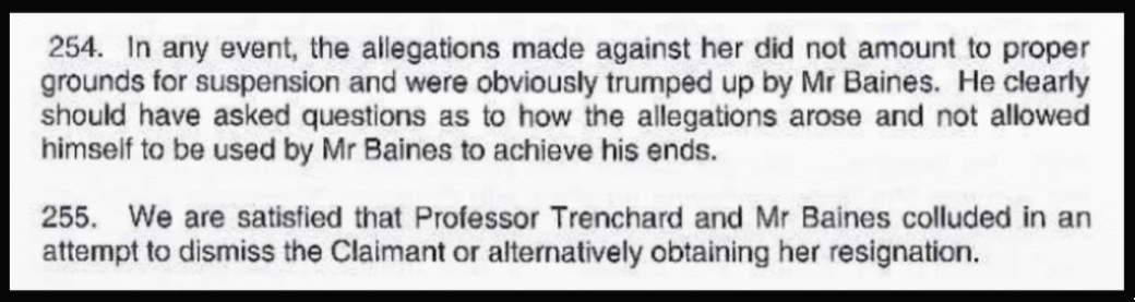 Trenchard colluded