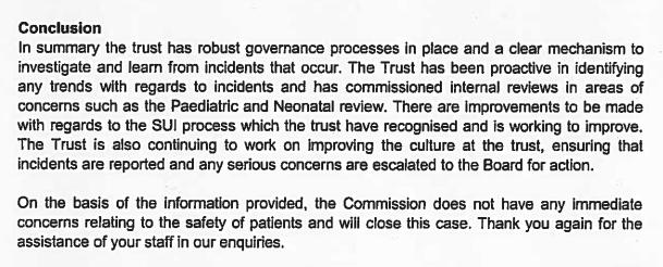 Andrea Gordon CQC letter to Mark Goldman HEFT 8 Jan 2010
