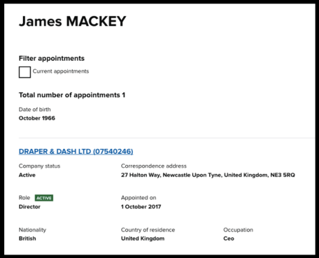 Jim Mackey Companies House