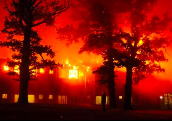 Chase Farm Hospital Fire 2008