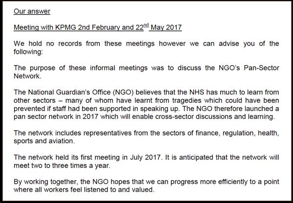 KPMG meetings