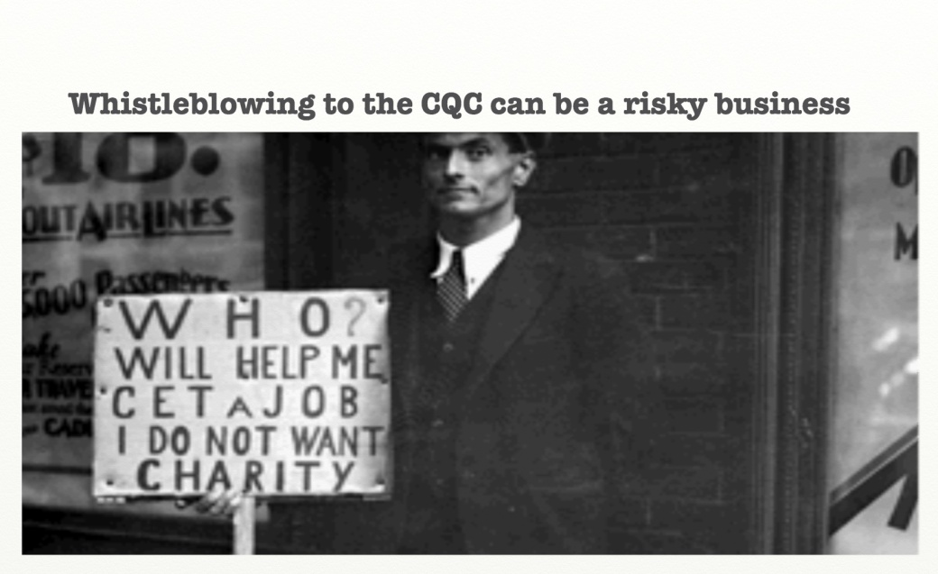 Whistleblowing to the CQC