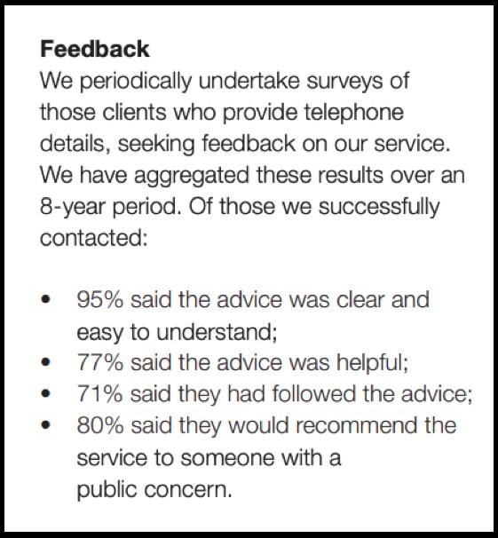 PCAW feedback