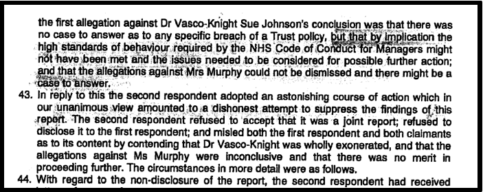 Blog 8 South Devon suppressed report PVK ET judgment