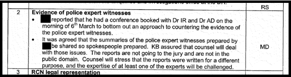 ACounter police expert evidence