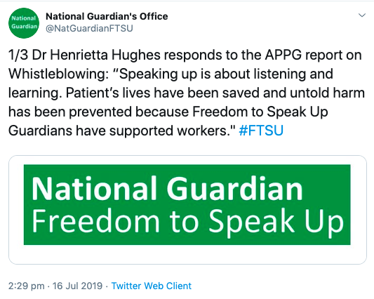 National Guardian tweet prevented untold harm saved lives