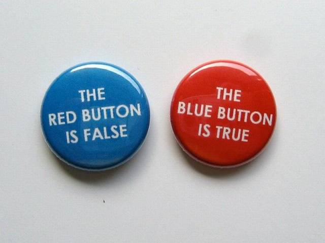 truth false buttons