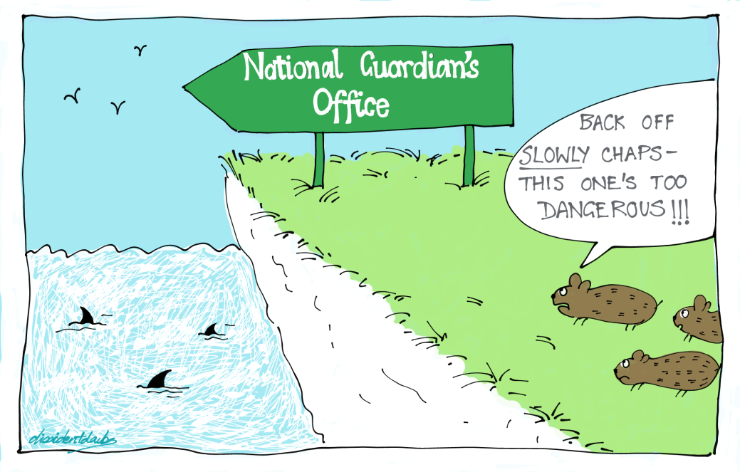 Lemmings National Guardian cliff