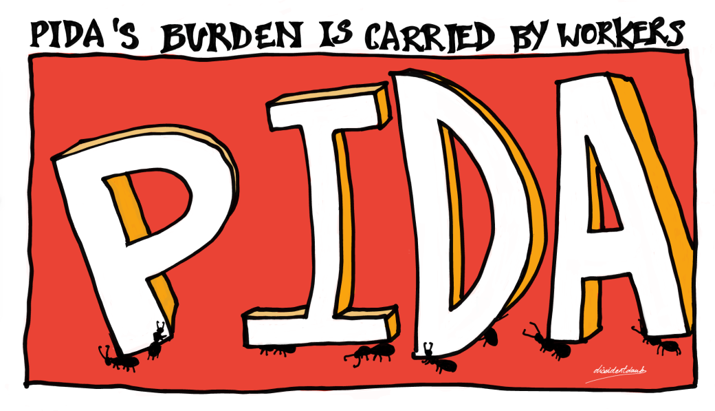 PIDA's burden is carried by workers